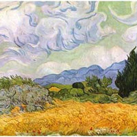 Vincent Van Gogh Wheat Field Cypresses Poster 11x17