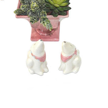 Vintage Howling Coyote Salt & Pepper Shakers Coyote Treasure Craft Southwestern Salt and Pepper Shakers