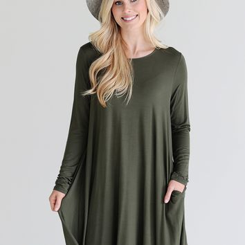 Army PIKO Pocket Swing Dress