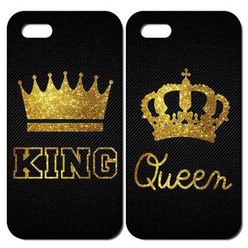 King Queen Back Cover Case for iPhone 5 5S SE 6 6S 7 8 Plus X XS Max XR Samsung Galaxy Note 8 9 S6 S7 S8 S9 Edge Plus