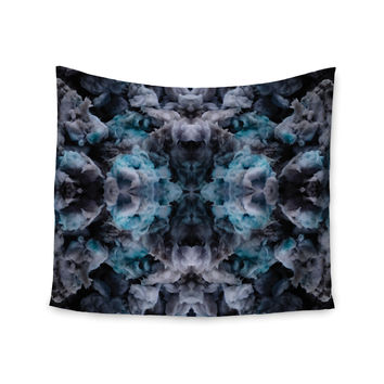 """Akwaflorell """"Abyss"""" Blue Black Wall Tapestry"""