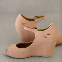Peep Toe Wendy Wedges