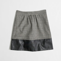 Factory leather-trim houndstooth skirt : Skirts   J.Crew Factory