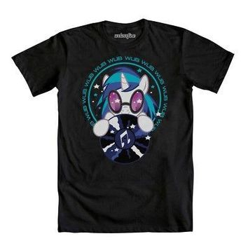 My Little Pony Brony DJ Pon-3 Wub To Wub You Men's Black T-Shirt - Medium