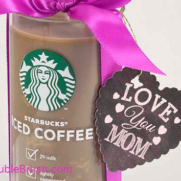 Mom Coffee Gift Upcycled Starbucks Iced Coffee Bottle Candle