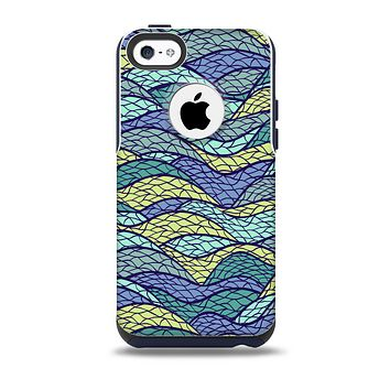 The Green and Blue Stain Glass Skin for the iPhone 5c OtterBox Commuter Case