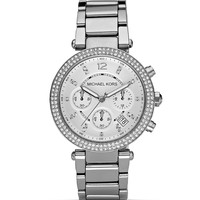Michael KorsSilver and Crystal Watch, 39mm