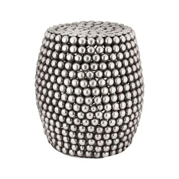 Pebble Stool Pewter Antique
