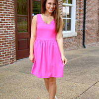Sassy Scallop Dress