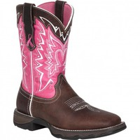 Durango Cowboy Boots Lady Rebel Breast Cancer Awareness Pink Ladies Cowboy Boot