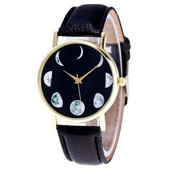 XINIU phase of the moon pattern Wrist Watches Luxury Brand Women's Bracelet Watches Ladies Dress Watches Relogios Femininos