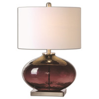 Tyrian Purple Glass Table Lamp