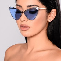Sassy Cat Sunglasses - Blue
