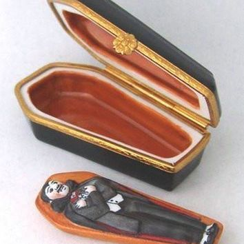 Coffin with Vampire Limoges Boxes