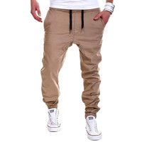 Fashion Army Khaki Casual  Mens Pants, Gym Tactical Sweatpants Hip hop Running Jogger Capri Sport Military Style trousers