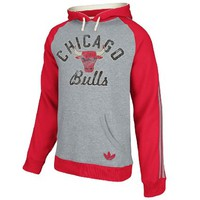 NBA adidas Chicago Bulls Springfield Ragland Pullover Hoodie - Ash/Red