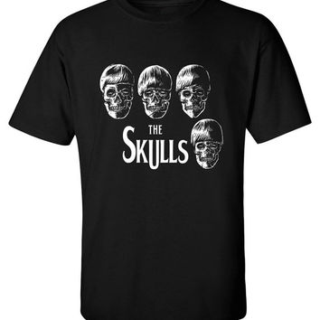 The Skulls British Band Album Cover Parody Music shirt Rock and Roll T-shirt tee Shirt TV show inspired Mens Ladies MLG-1300