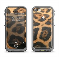 The Real Thin Vector Leopard Print Apple iPhone 5c LifeProof Fre Case Skin Set