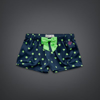 Dot & Heart Print Sleep Shorts