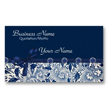 Classy Blues Business Card Template