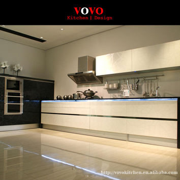 High gloss and quality modern white lacquer kitchen cabinet made in China
