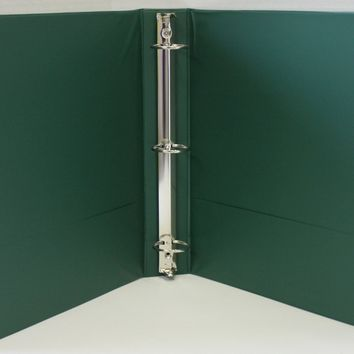 "2"" Basic 3-Ring Binder w- Two Inside Pockets - Green - CASE OF 12"