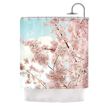 "Sylvia Cook ""Spring Beauty"" Pink Blue Shower Curtain"