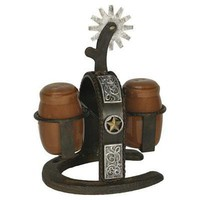 Rivers Edge Cast Iron Spur Salt and Pepper Shaker 1094