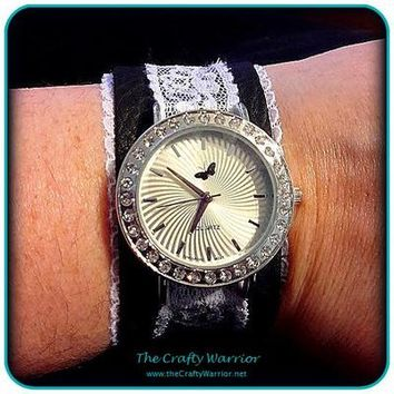 Leather & Lace Watch from The Crafty Warrior