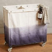 Dip Dyed Laundry Bin by Anthropologie Blue Motif One Size House & Home