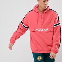 Puma Overhead Windbreaker In Pink Exclusive To ASOS at asos.com