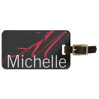 Red Stroke Personalized Luggage Tag