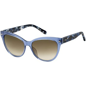 Fossil - 2058  Crystal Blue  Sunglasses / Brown Gradient Lenses