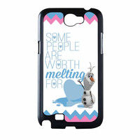 Olaf Quote Melting The Disney Frozen Pink Blue Chevron Samsung Galaxy Note 2 Case