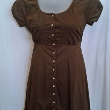 17377 Eddie Bauer Vintage Inspired Eyelet Fit and Flare Dress Size 16