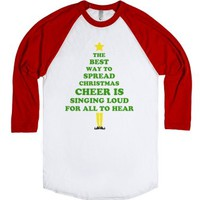 The Best Way To Spread Christmas-Unisex White/Red T-Shirt