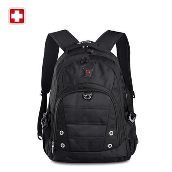 Swisswin swiss army boys school bags orthopedic school bags pc bag  Backpack Laptop bag for girls Red Black  Mochila Masculina