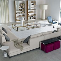 Sectional upholstered fabric sofa LARGE by MOLTENI & C. | design Ferruccio Laviani