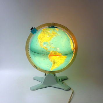 Vintage Fisher Price view finder explorer illuminated toy world globe