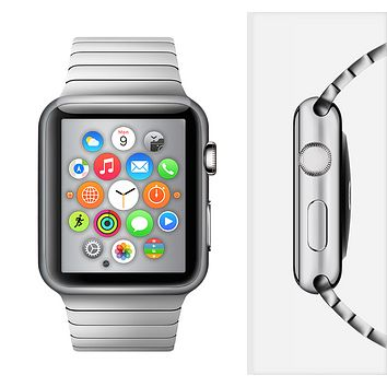 The Chrome Reflective Full-Body Skin Set for the Apple Watch