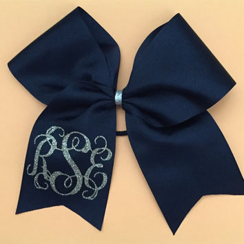 Super cute monogram bow black and gold