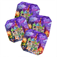 Ginette Fine Art Saint Basils Cathedral Russia Coaster Set