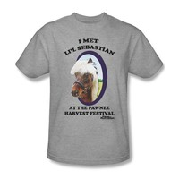 Parks & Recreation - Lil' Sebastian Adult T-Shirt In Heather