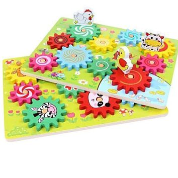 Colorful Gear Wooden Educational Toys for Children