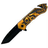 Whetstone  Golden Police Folding Pocket Rescue Knife - 7.75