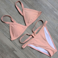 New Swimsuit Women  Bikini Bandage Bikini Set High Cut Waist