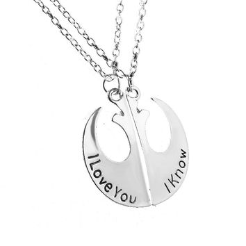 Star War I love you I know Charming Pendant Necklace  For Women