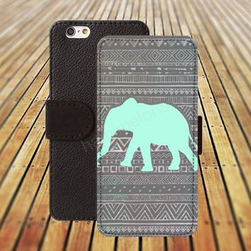 iphone 5 5s case chevron Elephant Indian style iphone 4/ 4s iPhone 6 6 Plus iphone 5C Wallet Case,iPhone 5 Case,Cover,Cases colorful pattern L161