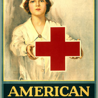 WWI Poster American Red Cross Serves Humanity Join! / / Lawrence Wilbur.