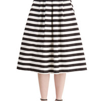 ModCloth Nautical Long High Waist Chic-ing of Which Skirt
